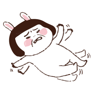 Cool girl Rabbitami messages sticker-7