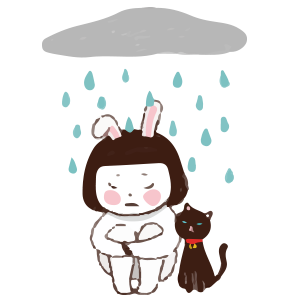 Cool girl Rabbitami messages sticker-11