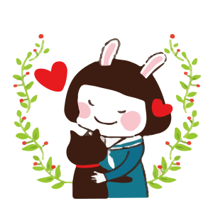 Cool girl Rabbitami messages sticker-1