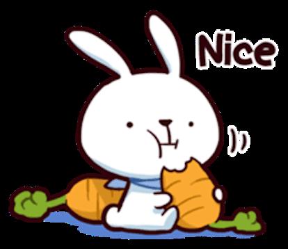Cool Little Rabbit messages sticker-3