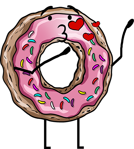 Donuts - Cute stickers messages sticker-11