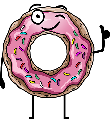 Donuts - Cute stickers messages sticker-4