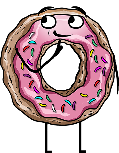 Donuts - Cute stickers messages sticker-2