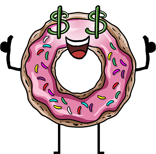 Donuts - Cute stickers messages sticker-8