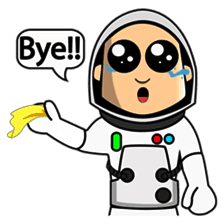Astronaut Emoji messages sticker-4