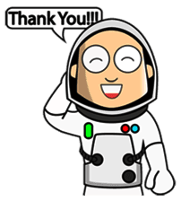 Astronaut Emoji messages sticker-1