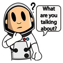 Astronaut Emoji messages sticker-5