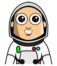 Astronaut Emoji messages sticker-6