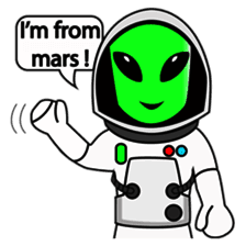 Astronaut Emoji messages sticker-9