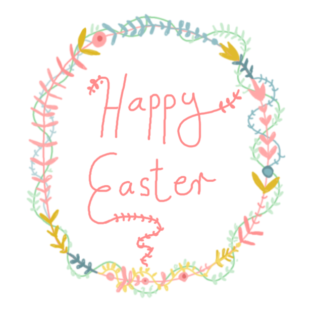 Cute Easter Wishes messages sticker-1