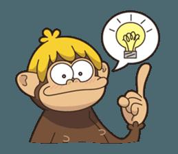 Adventurous Monkey Stickers messages sticker-0