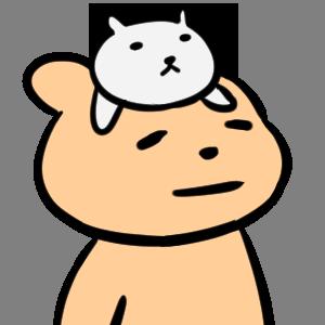毎日くま&ねこステッカー Everyday Kuma & Neko Sticker messages sticker-0