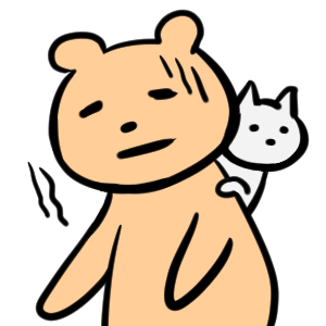 毎日くま&ねこステッカー Everyday Kuma & Neko Sticker messages sticker-3