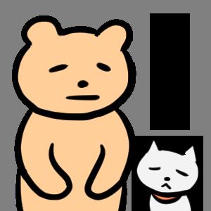 毎日くま&ねこステッカー Everyday Kuma & Neko Sticker messages sticker-4