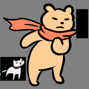 毎日くま&ねこステッカー Everyday Kuma & Neko Sticker messages sticker-10