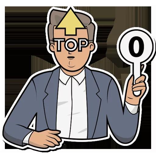 Emoji Man Stickers messages sticker-9