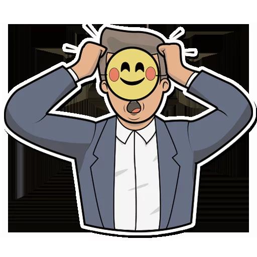 Emoji Man Stickers messages sticker-6