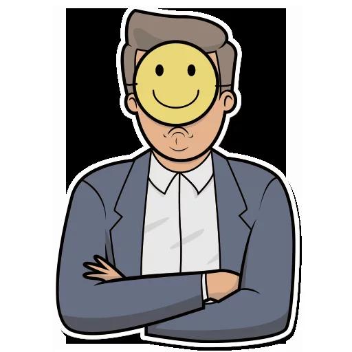 Emoji Man Stickers messages sticker-0