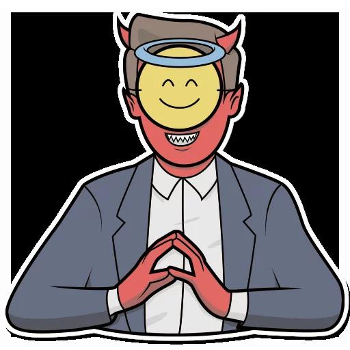 Emoji Man Stickers messages sticker-7