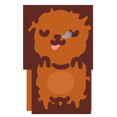 Poodle Kimi Sticker messages sticker-1