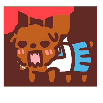 Poodle Kimi Sticker messages sticker-7