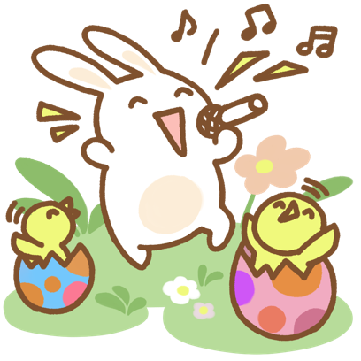 Easter Bun Bun messages sticker-1