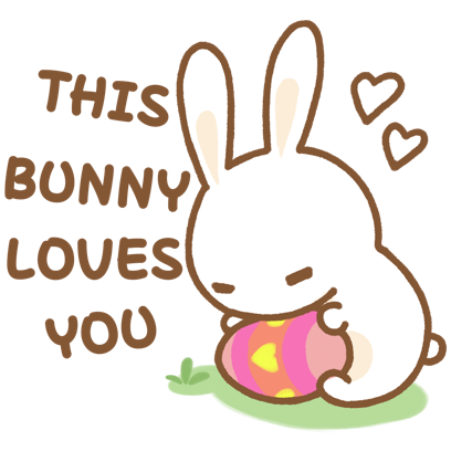 Easter Bun Bun messages sticker-11