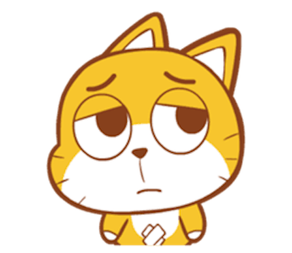 Baby Yellow Meow Emoji messages sticker-4