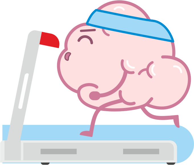 Brain Fitness - Gym for the brain messages sticker-3