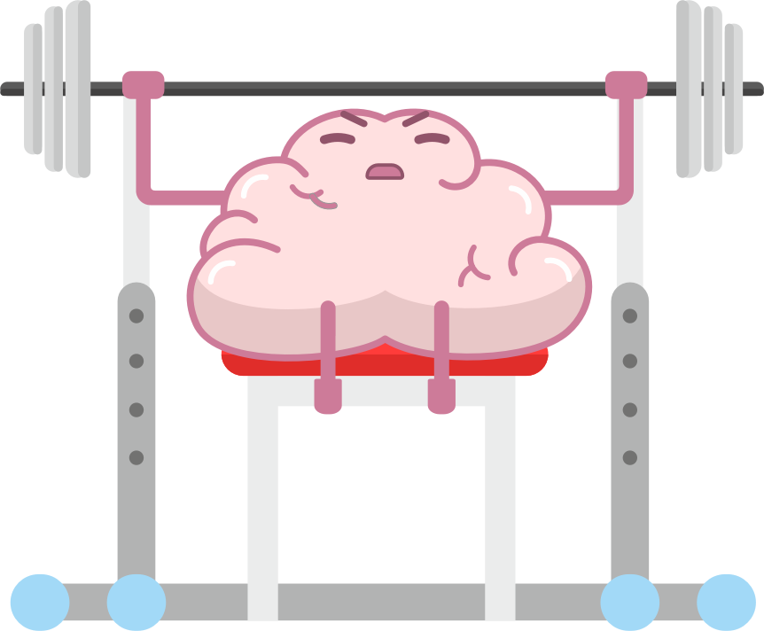 Brain Fitness - Gym for the brain messages sticker-4