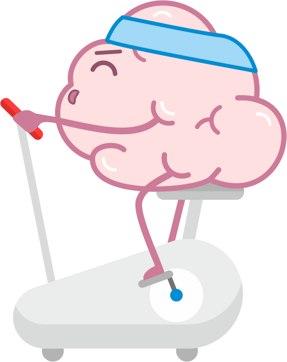 Brain Fitness - Gym for the brain messages sticker-6