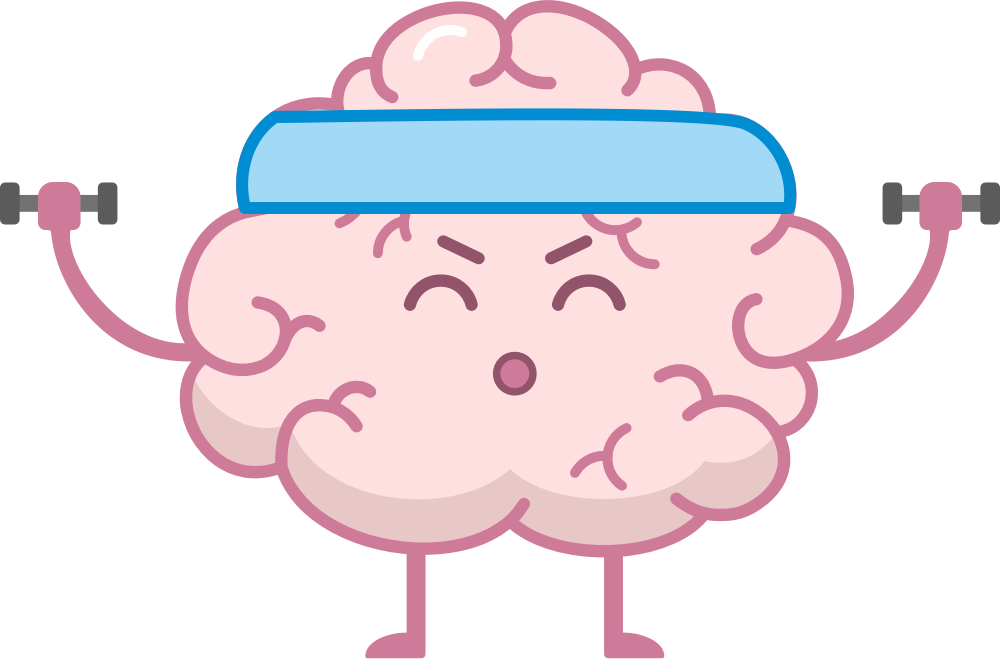 Brain Fitness - Gym for the brain messages sticker-1