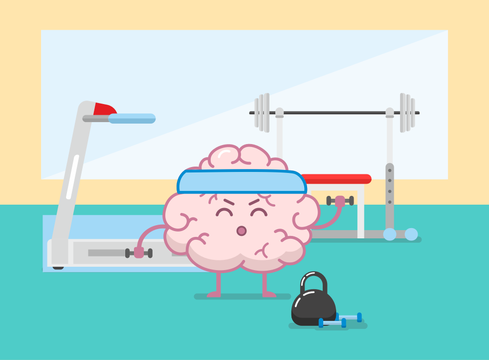 Brain Fitness - Gym for the brain messages sticker-7