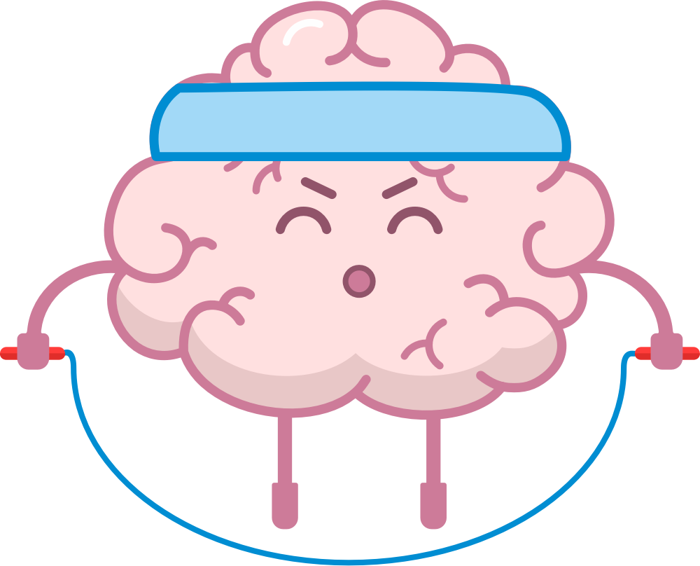 Brain Fitness - Gym for the brain messages sticker-5