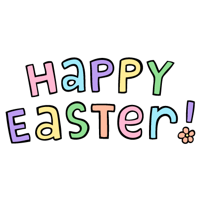 Easter Garden messages sticker-1
