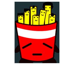 Potato Fries messages sticker-4