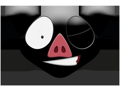 Les Stickers Petit Cochon Noir messages sticker-8