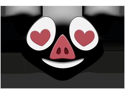 Les Stickers Petit Cochon Noir messages sticker-5