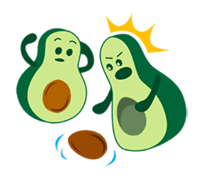 Avocado Party > Cool Stickers! messages sticker-9
