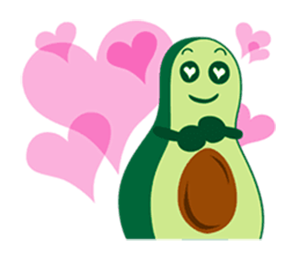Avocado Party > Cool Stickers! messages sticker-4