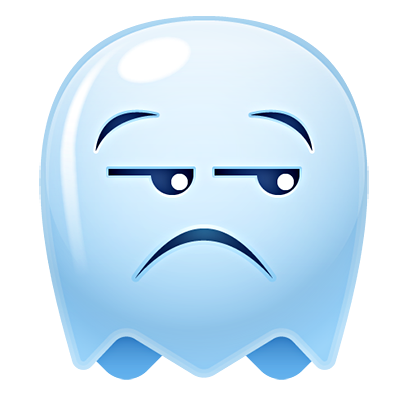 Ghost Emojis Free messages sticker-2