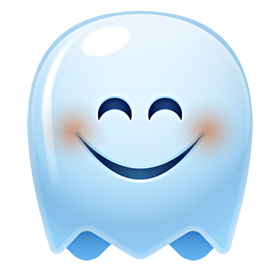 Ghost Emojis Free messages sticker-4