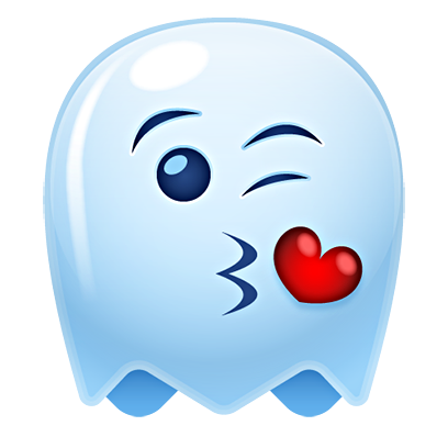 Ghost Emojis Free messages sticker-5