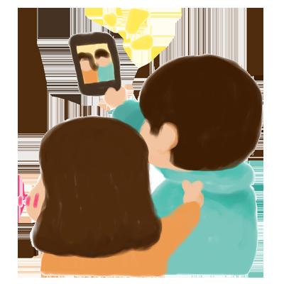 後ろ姿も可愛い messages sticker-1