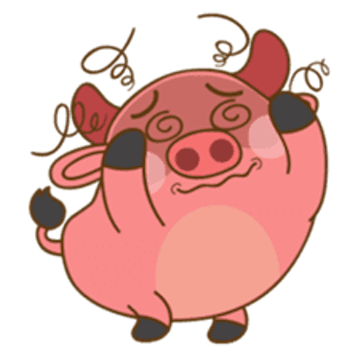 Funny Angry Pig messages sticker-9