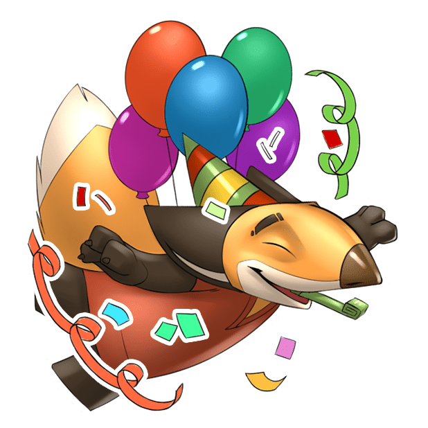 Digger the Fox Stickers for iMessage messages sticker-4