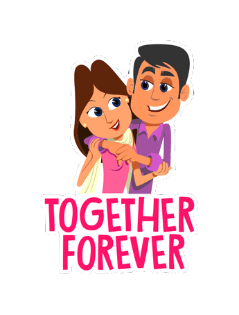 Cute Couple Stickers messages sticker-10