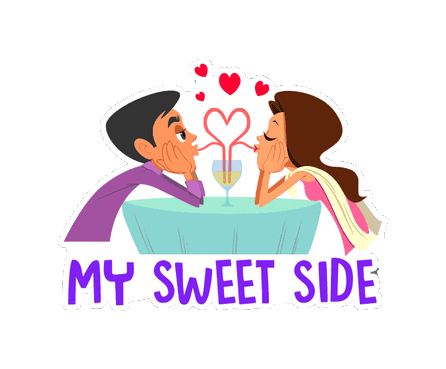 Cute Couple Stickers messages sticker-9