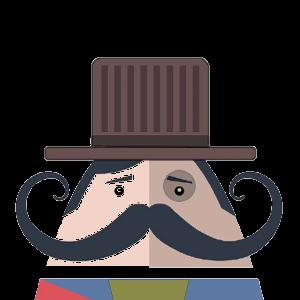 Mr. Mustachio 2 messages sticker-2