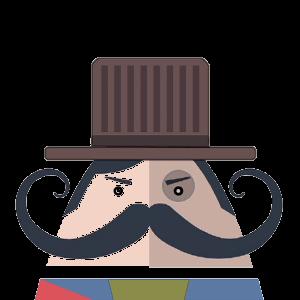 Mr. Mustachio 2 messages sticker-1